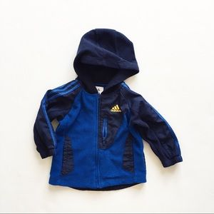 Adidas zip up fleece sweater/jacket  EUC 12 months